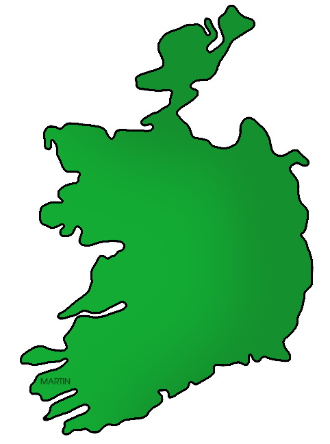 Map of Ireland, Color
